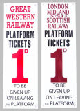 Railway station PLATFORM TICKETS.