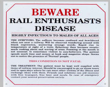 Railway station ENTHUSIASTS DISEASE.