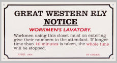 Railway station WORKMENS LAVATORY.