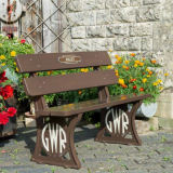 2 seater Garden Railway Bench.