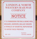 London & North Western Railway Sign.
