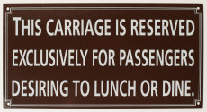 Railway Lunch & Dine Sign.
