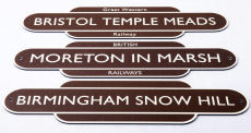 GWR Station Totem Name Plate.